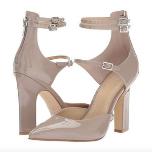 MARC FISHER Magnol Gray Ankle Strap Pump